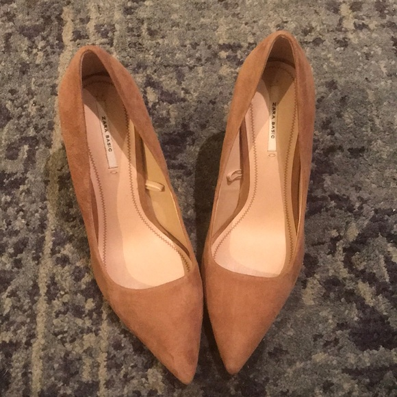 a4becbe571 Zara Shoes | New Camel Pointy Toe Pumps | Poshmark